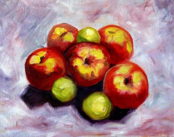 Apple Orchard Painting - Apple Harvest by Nancy Merkle