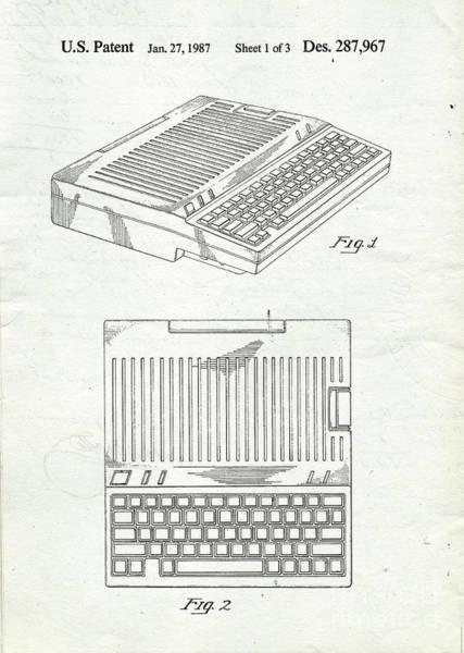 Computer Digital Art - Apple IIe Computer Original Patent by Edward Fielding