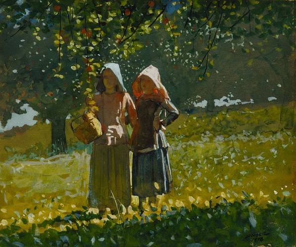 Wall Art - Painting - Apple Picking by