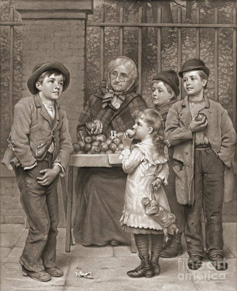 Wall Art - Photograph - Apple Seller 1881 by Padre Art