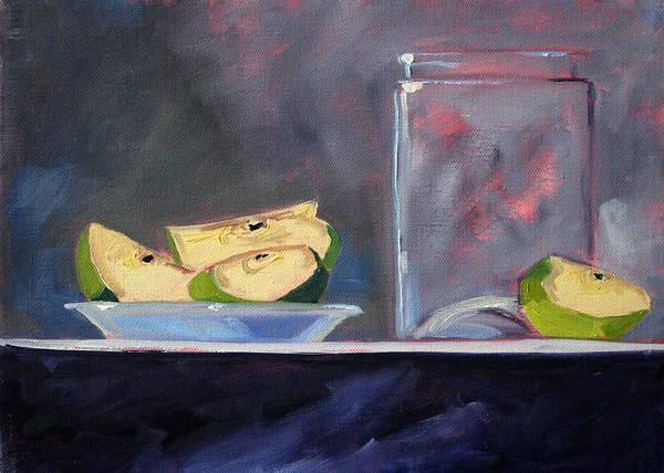 Fresh Paint Painting - Apple Snack by Nancy Merkle