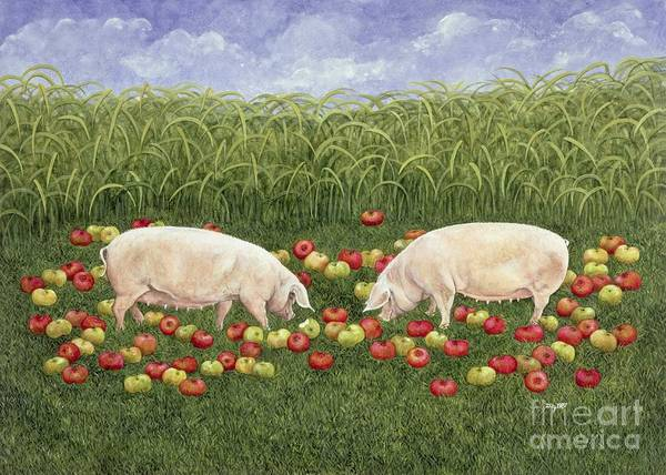 Apple Orchard Painting - Apple Sows by Ditz