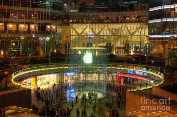 Macintosh Apple Photograph - Apple Store In Shanghai China by Fototrav Print