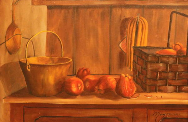 Wall Art - Painting - Apple  Time by Lou Magoncia