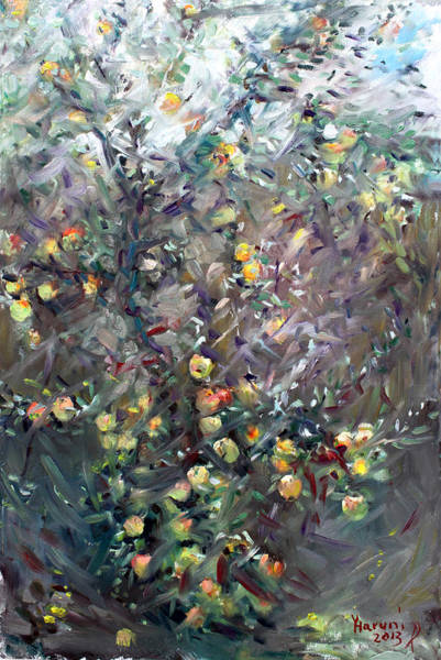 Apple Orchard Painting - Apple Tree  by Ylli Haruni