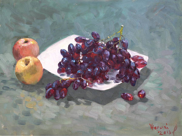 Wall Art -  - Apples And Grapes by Ylli Haruni