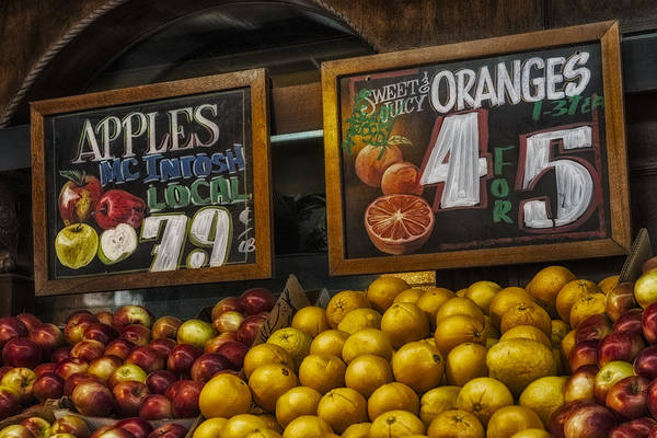 Macintosh Apple Photograph - Apples And Oranges by Susan Candelario