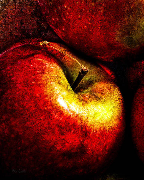 Hand Painted Photograph - Apples  by Bob Orsillo