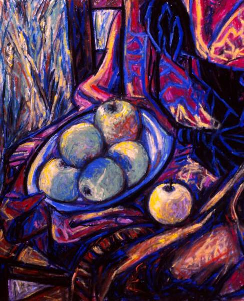 Painting - Apples By An Open Window by Kendall Kessler
