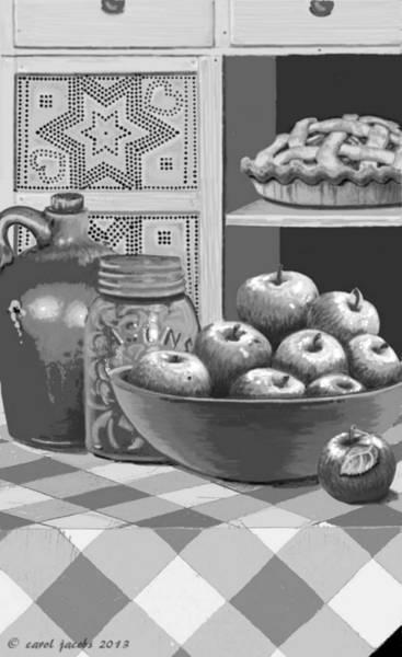 Jug Digital Art - Apples Four Ways by Carol Jacobs