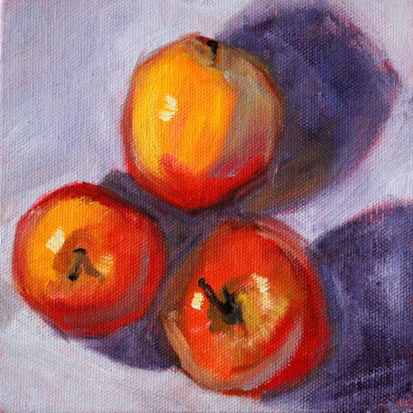 Red Apples Painting - Apples by Nancy Merkle