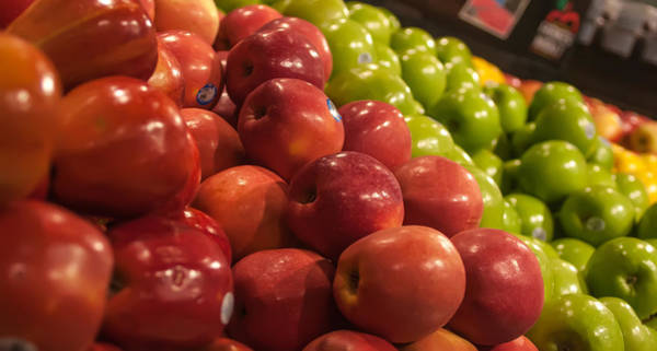 Photograph - Apples On Display At Farmers Market by Alex Grichenko