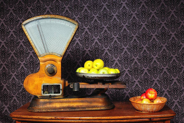 Photograph - Apples On The Scale by John Kiss