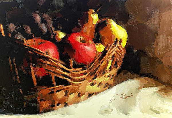 Painting - Apples Pears And Grapes by Charlie Roman