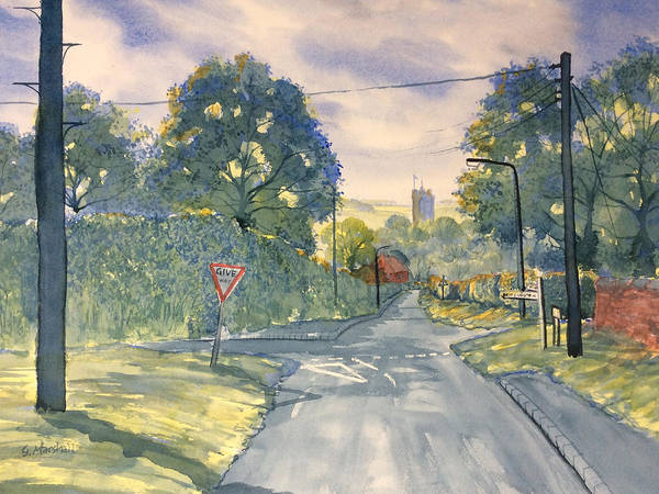 Painting - Approach To Kilham by Glenn Marshall