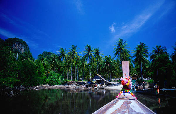 Phi Photograph - Approaching Ao Bakao By Longboat On The by Karen Trist