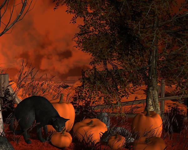 Digital Art - Approaching Halloween by Approaching Halloween
