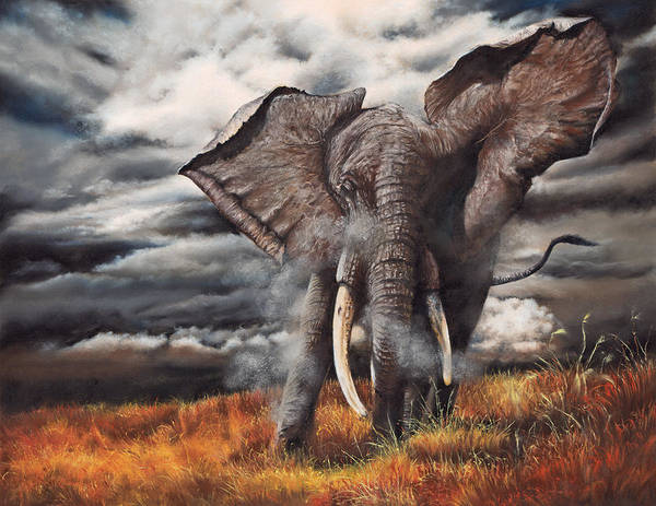 Pastel - Approaching Menace by Peter Williams
