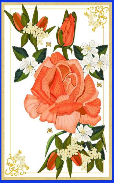 Wall Art - Painting - Apricot Rose For Mother's Day by Anne Norskog