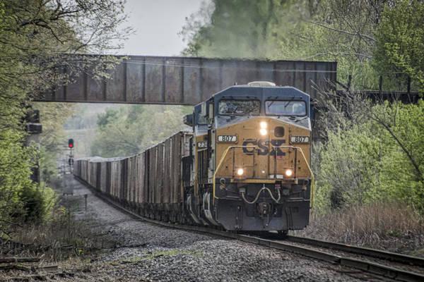 Subdivision Photograph - April 24 2014 - Csx Rock Train by Jim Pearson