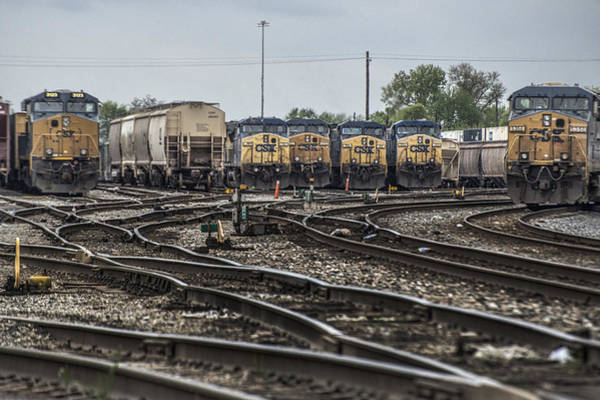 Subdivision Photograph - April 30 2014 - Csx Howell Yards by Jim Pearson