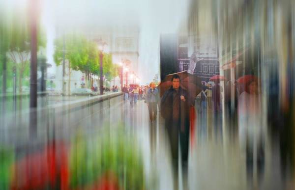 Walking In The Rain Wall Art - Photograph - April In Paris by Diana Angstadt