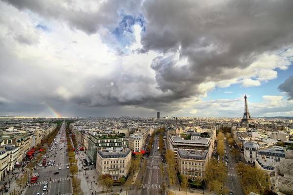 Land Mark Photograph - April Showers In Paris by Mark Jarvis