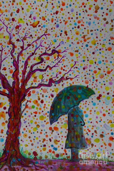 Painting - April Showers by Jacqueline Athmann