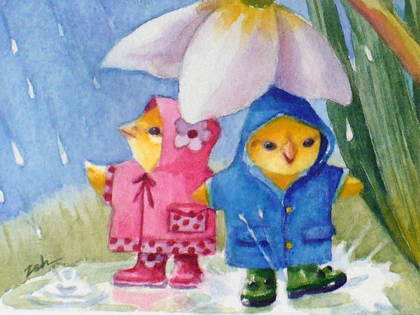 Painting - April Showers by Janet Zeh
