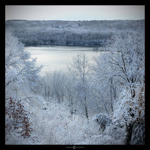 Photograph - April Snow Open Water by Tim Nyberg