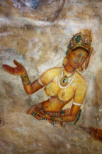 Golden Princess Photograph - Apsara. Sigiriya Cave Painting by Jenny Rainbow