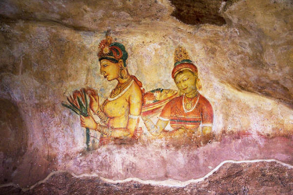 Golden Princess Photograph - Apsaras. Sigiriya Cave Painting by Jenny Rainbow