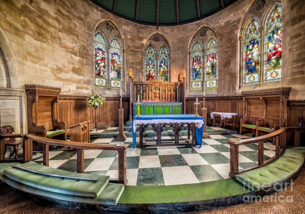 Holy Trinity Photograph - Apse Windows by Adrian Evans