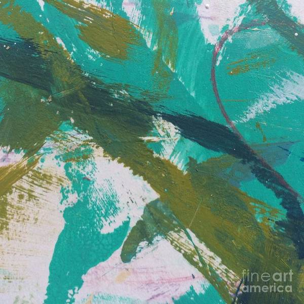 Painting - Aqua And Green by Robin Maria Pedrero