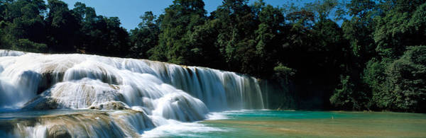 Plunge Photograph - Aqua Azul Chiapas Mexico by Panoramic Images