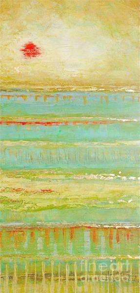 Painting - Aqua Bamboo by Kaata    Mrachek