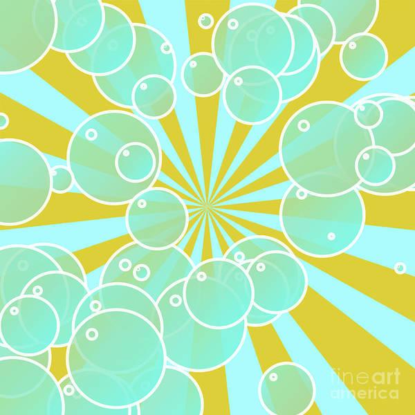 Gold Digital Art - Aqua Bubbly Art by Gaspar Avila