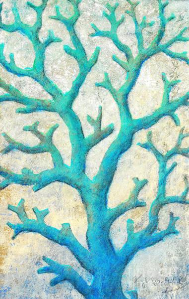 Painting - Aqua Coral Dash by Kaata    Mrachek