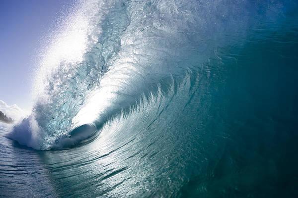Backlit Photograph - Aqua Curl by Sean Davey