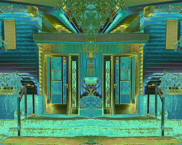 Digital Art - Aqua House 2 by Don and Judi Hall