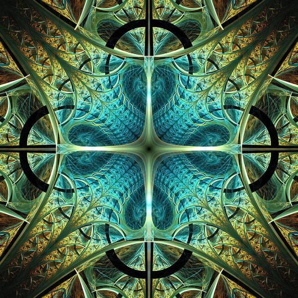 Digital Art - Aqua Shield by Anastasiya Malakhova