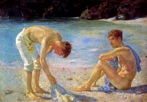 Painting - Aquamarine   by Henry Scott Tuke