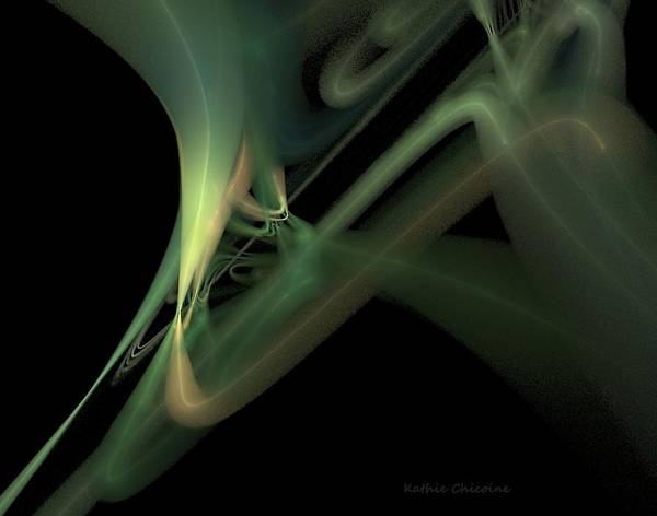 Digital Art - Aquamarine by Kathie Chicoine