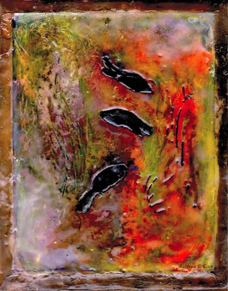 Painting - Aquarium Encaustic by Bellesouth Studio