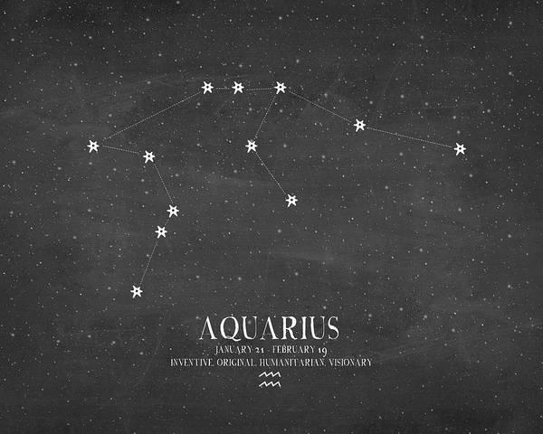 Zodiac Wall Art - Painting - Aquarius by Amy Cummings
