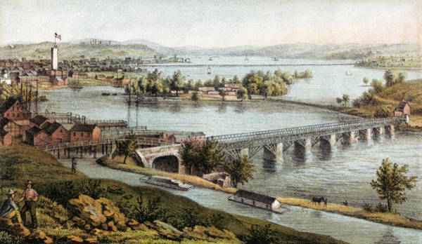 Wall Art - Painting - Aqueduct Bridge, 1865 by Granger