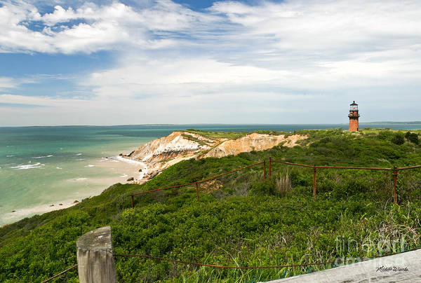 Aquinnah Gay Head Lighthouse Marthas Vineyard Massachusetts II Art Print