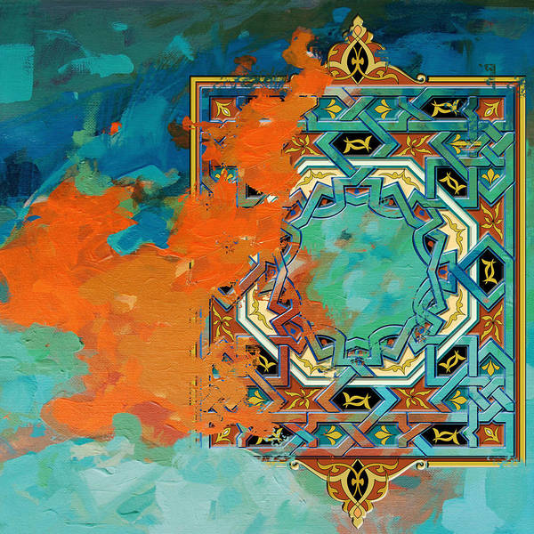 Corporate Art Task Force Painting - Arabesque 2 by Shah Nawaz