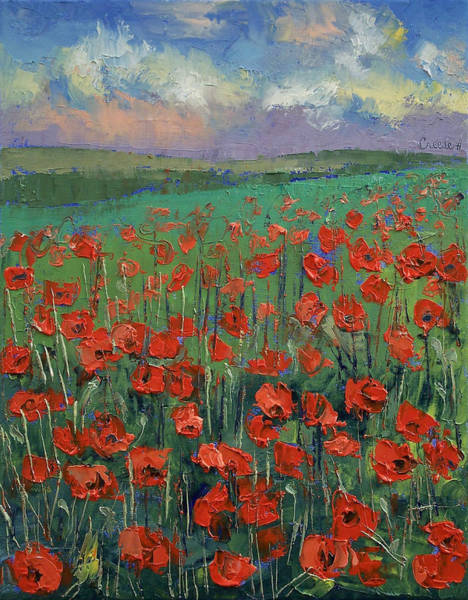 Field Of Flowers Wall Art - Painting - Arabesque by Michael Creese