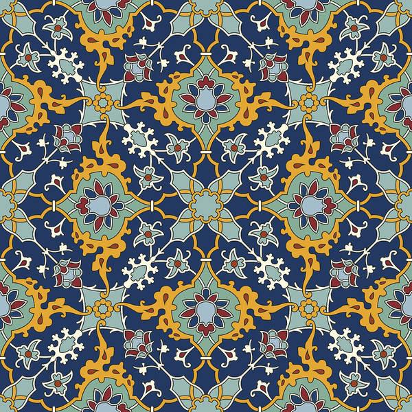 Arab Digital Art - Arabesque Seamless Pattern 04 by Pablo Romero